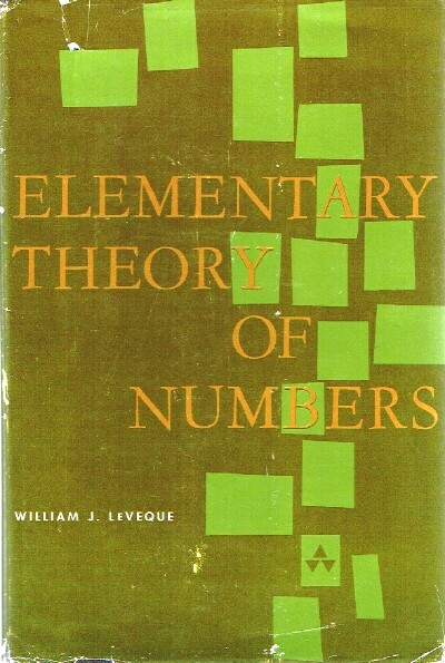 Image for Elementary Theory of Numbers