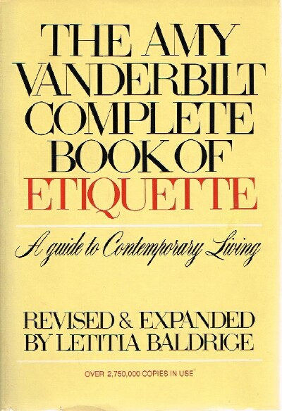 Image for The Amy Vanderbilt Complete Book of Etiquette A Guide to Contemporary Living