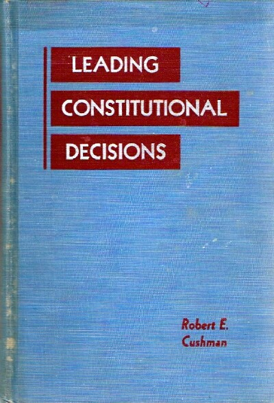 Image for Leading Constitutional Decisions