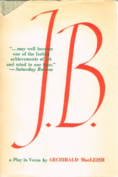 Image for J. B.; A Play in Verse