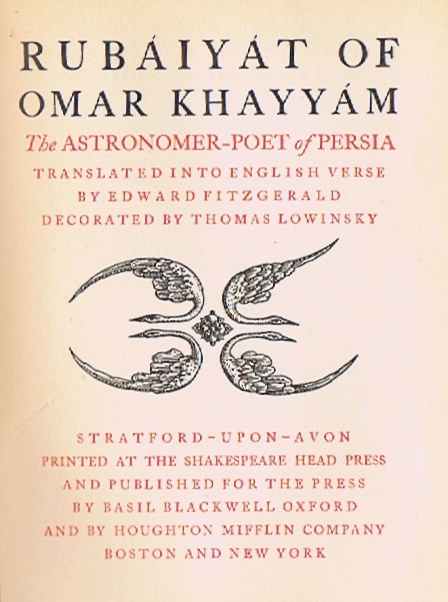 Image for Rubaiyat of Omar Khayyam: The Astronomer-Poet of Persia