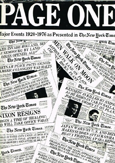 Image for Page One Major Events 1920-1976 as Presented in the New York Times