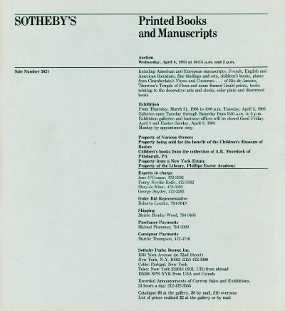Image for Printed Books and Manuscripts (06 Apr 1983)