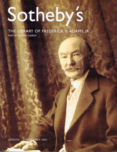 Image for The Library of Frederick B. Adams, Jr. Part II: Thomas Hardy 2001-11-07 London