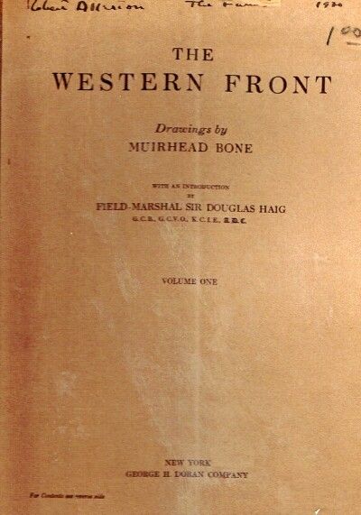 Image for The Western Front (Volume 1 only)