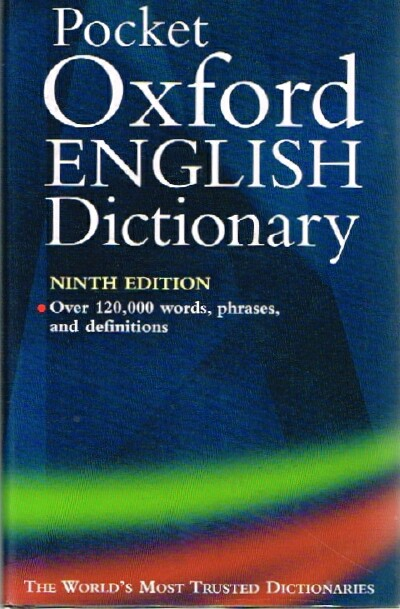 Image for The Pocket Oxford English Dictionary