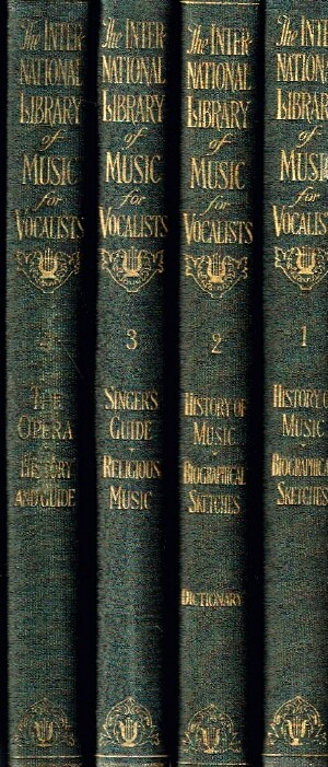 Image for The International Library of Music for  Home and  Studio:  Music Literature (Complete in Four Volumes).