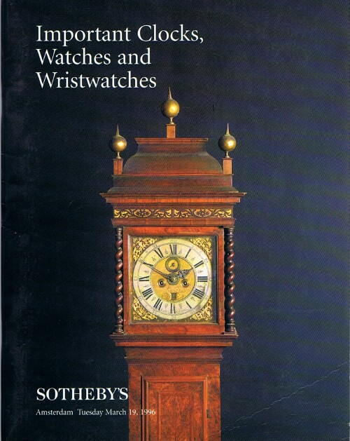 Image for Important Clocks, Watches & Wristwatches (Amsterdam, 19 Mar 1996)