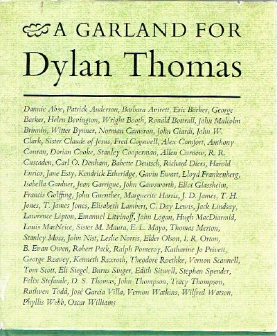 Image for A Garland for Dylan Thomas