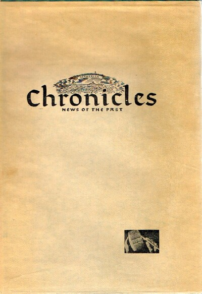 Image for Chronicles: News of the Past. Vol. I: In the Days of the Bible (From Abraham to Ezra 1727-444 BCE)