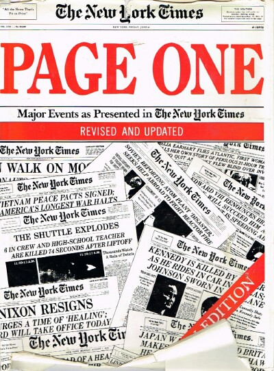 Image for PAGE ONE Major Events 1920-1988 as Presented in The New York Times