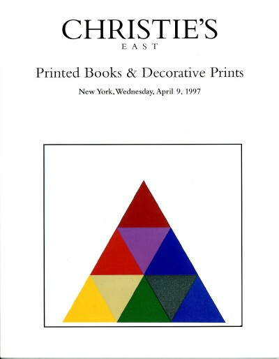 Image for PRINTED BOOKS & DECORATIVE PRINTS (09 Apr 97)