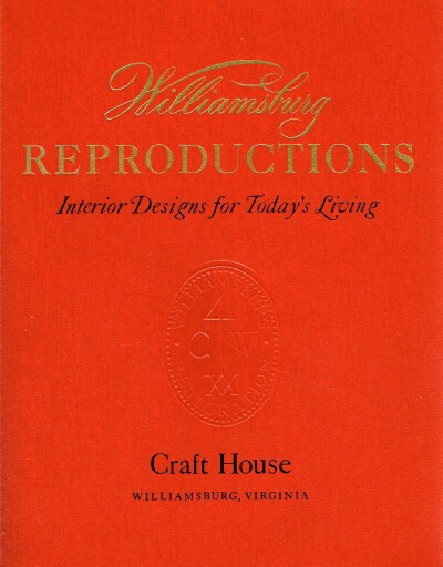 Image for Willamsburg Reproductions Interior Designs for Today's Living