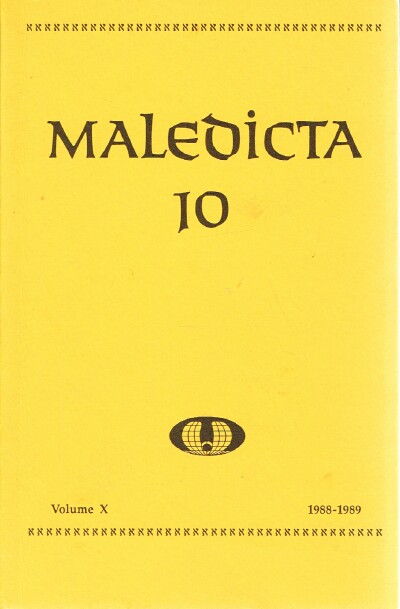 Image for Maledicta  10