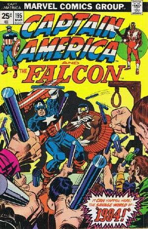 "Image for Marvel Captain America and The Falcon (""1984"" -- Vol. 1 No. 195, March 1976)"