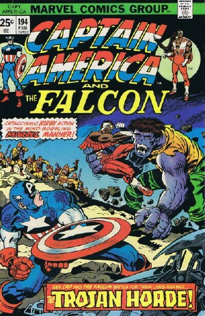 "Image for Marvel Captain America and The Falcon (""The Trojan Horde"" -- Vol. 1 No. 194, February 1976)"