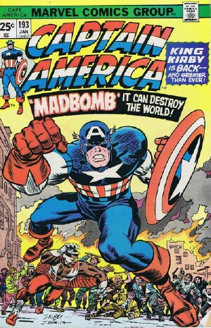 "Image for Marvel Captain America and The Falcon (""The Madbomb"" -- Vol. 1 No. 193, January 1976)"