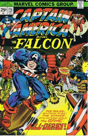 "Image for Marvel Captain America and The Falcon (""Kill-Derby"" -- Vol. 1 No. 196, April 1976)"