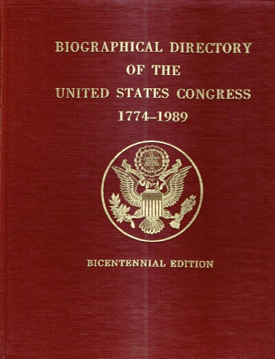 Image for Biographical Directory of the United States Congress 1774-1989
