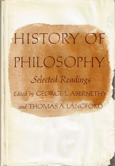 Image for History of Philosophy: Selected Readings.