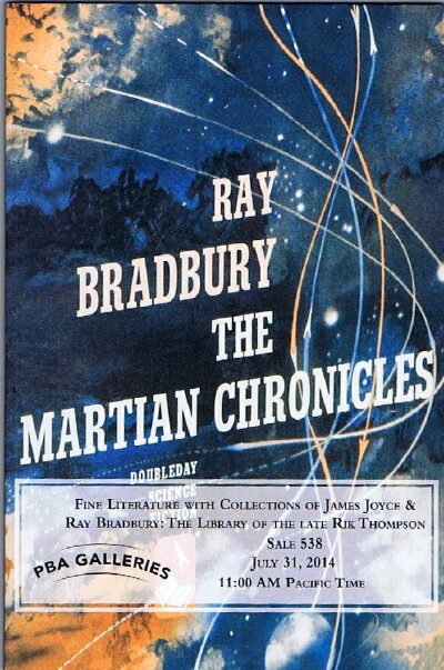 Image for Fine Literature With Collections of James Joyce & Ray Bradbury: The Library of the Late Rik Thompson Sale 538 July 31, 2014 11:00 AM Pacific Time
