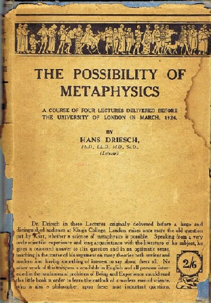 Image for The Possibility of Metaphysics: A Course of Four Lectures Delivered Before the University of London in March, 1924