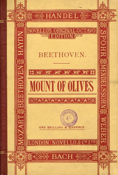 Image for The Mount of Olives: An Oratorio