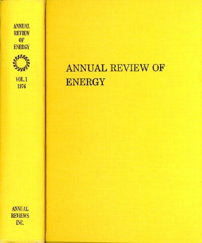 Image for ANNUAL REVIEW OF ENERGY: Volume 1, 1976