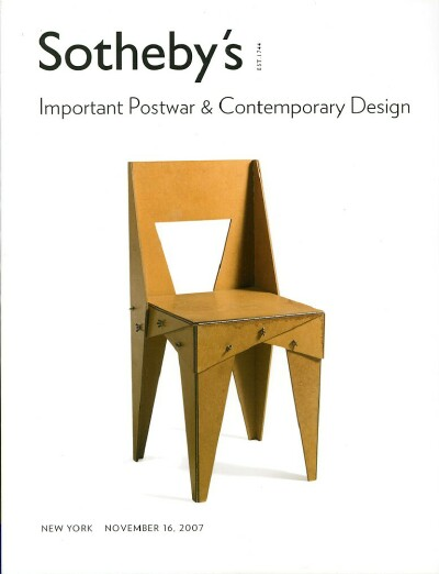 Image for IMPORTANT POSTWAR AND CONTEMPORARY DESIGN (November 16, 2007)