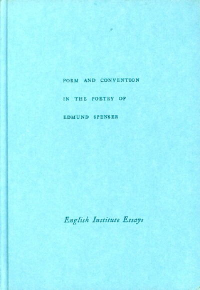 Image for Form and Convention in the Poetry of Edmund Spenser
