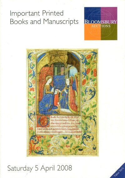 Image for IMPORTANT PRINTED BOOKS AND MANUSCRIPTS (April 5, 2008)