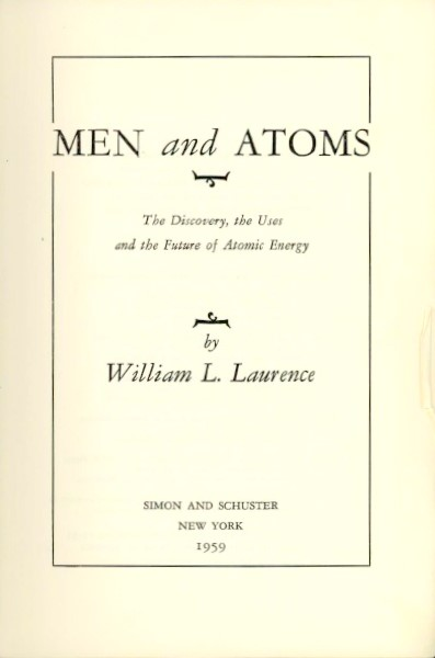 Image for MEN AND ATOMS