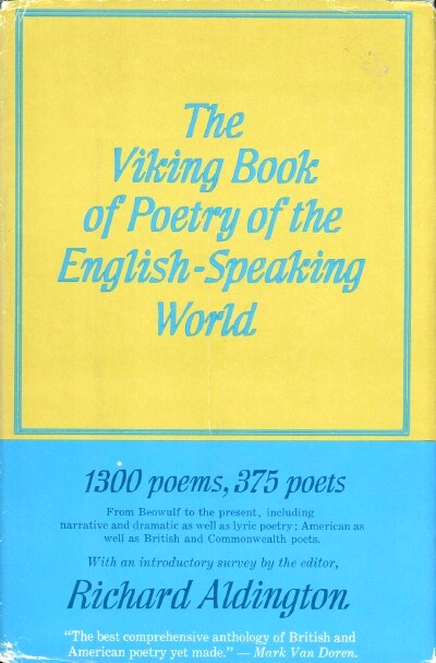 Image for THE VIKING BOOK OF POETRY OF THE ENGLISH-SPEAKING WORLD (VOLUME II only)