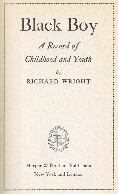 Image for BLACK BOY: A RECORD OF CHILDHOOD AND YOUTH