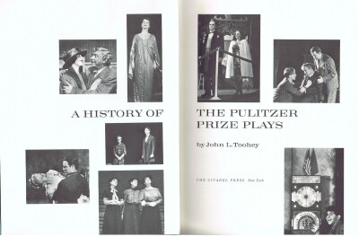 Image for A HISTORY OF THE PULITZER PRIZE PLAYS