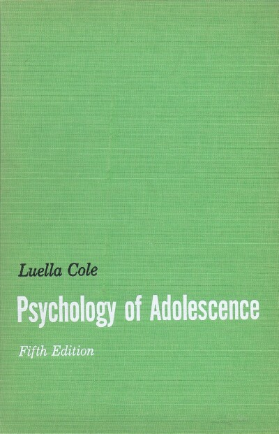Image for PSYCHOLOGY OF ADOLESCENCE