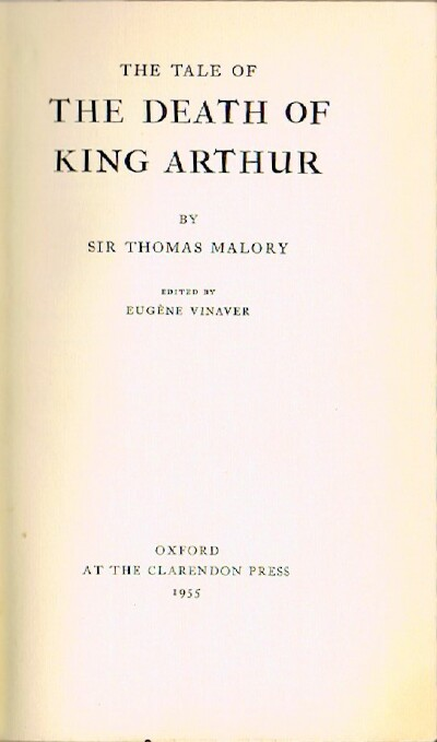Image for THE TALE OF THE DEATH OF KING ARTHUR