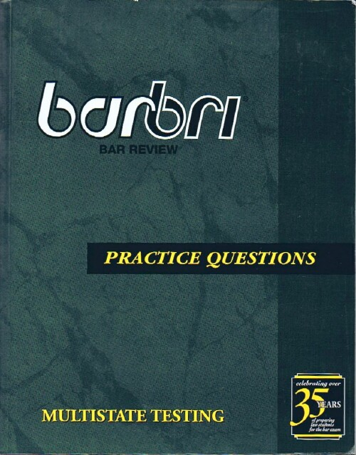 Image for BarBri Practice Questions: Multistate Testing (MPQ 2005)