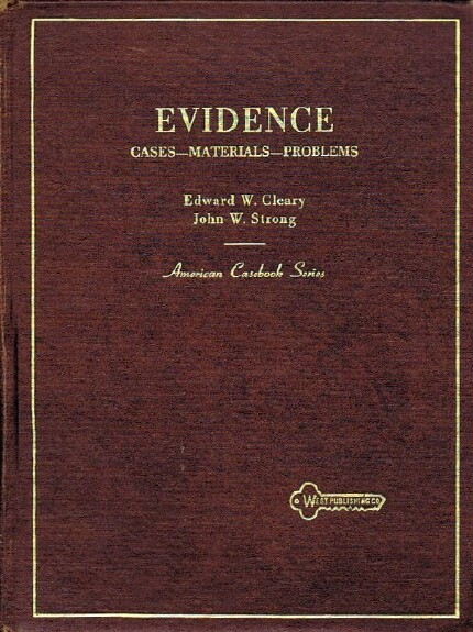 Image for EVIDENCE: CASES, MATERIALS, PROBLEMS [AMERICAN CASEBOOK SERIES]