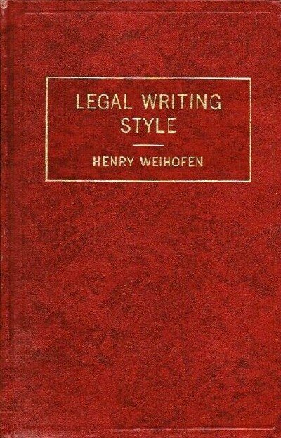 Image for LEGAL WRITING STYLE