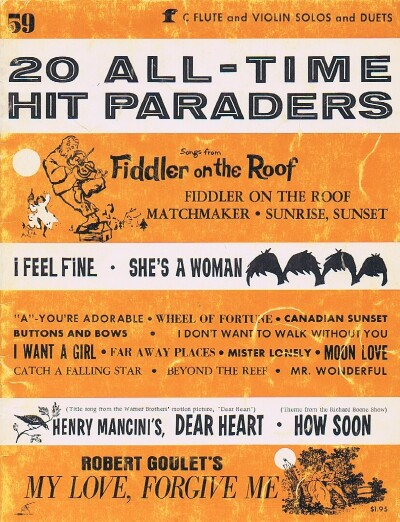 Image for 20 ALL-TIME HIT PARADERS # 59 ( C FLUTE AND VIOLIN SOLOS AND DUETS)