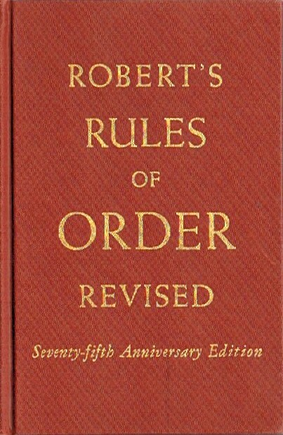 Image for ROBERT'S RULES OF ORDER REVISED (Seventy-Fifth Anniversary Edition)