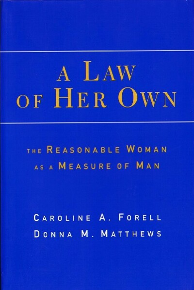 Image for A Law of Her Own: The Reasonable Woman As a Measure of Man