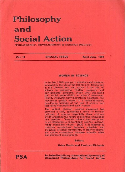 Image for Philosophy and Social Action (Vol. 14, Special Issue, April-June 1988)