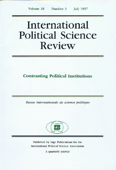 Image for International Political Science Review (Vol. 18, No. 5, July 1997)